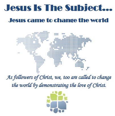 Jesus is the Subject world graphic